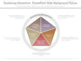 Sustaining Momentum Powerpoint Slide Background Picture