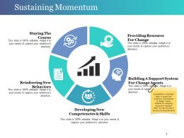 Sustaining Momentum Powerpoint Slide Design Templates