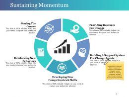 Sustaining Momentum Powerpoint Slide Design Templates