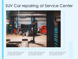 SUV Car Repairing At Service Center