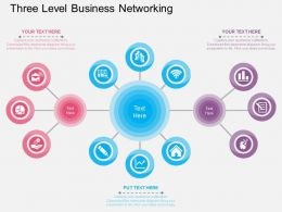 sv Three Level Business Networking Flat Powerpoint Design
