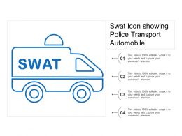 Swat Icon Showing Police Transport Automobile