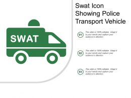 Swat Icon Showing Police Transport Vehicle