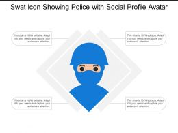 Swat Icon Showing Police With Social Profile Avatar