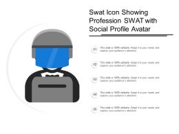 Swat Icon Showing Profession Swat With Social Profile Avatar