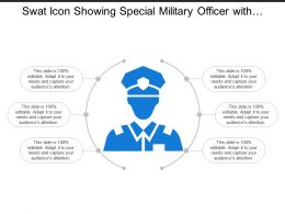 Swat Icon Showing Special Military Officer With Social Profile Avatar