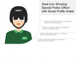 Swat Icon Showing Special Police Officer With Social Profile Avatar