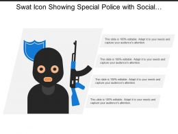 Swat Icon Showing Special Police With Social Profile Avatar
