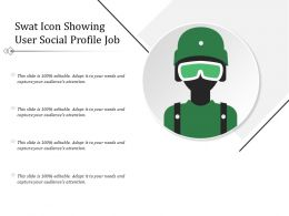 Swat Icon Showing User Social Profile Job