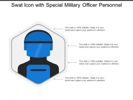 Swat Icon With Special Military Officer Personnel