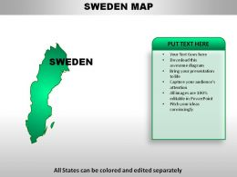 Sweden Country Powerpoint Maps