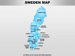 Sweden Powerpoint Maps