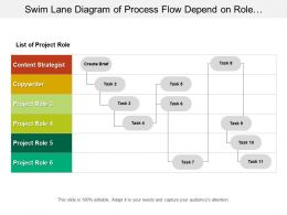 Swim Lane Diagram Of Process Flow Depend On Role And Relation