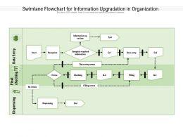 Swimlane Flowchart For Information Upgradation In Organization