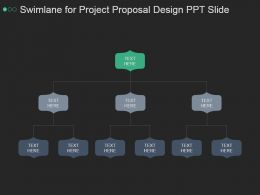 Swimlane For Project Proposal Design Ppt Slide