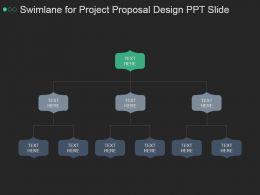 Swimlane For Project Proposal Design Ppt Slide