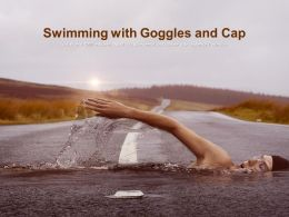 Swimming With Goggles And Cap