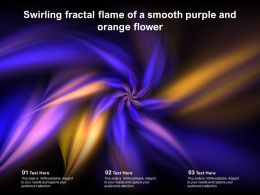 Swirling Fractal Flame Of A Smooth Purple And Orange Flower