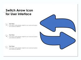 Switch Arrow Icon For User Interface