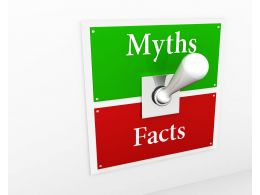Switch For Myth And Facts Stock Photo