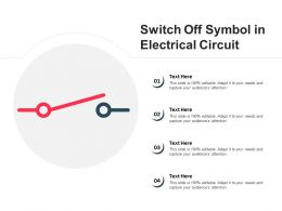 Switch Off Symbol In Electrical Circuit