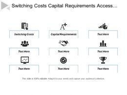 Switching Costs Capital Requirements Access Distribution Absolute Cost Advantages