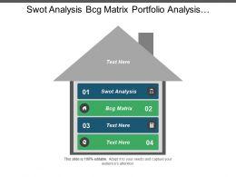 Swot Analysis Bcg Matrix Portfolio Analysis Competitive Advantage Cpb