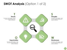Swot Analysis Big Data Analysis Ppt Powerpoint Presentation Pictures Templates