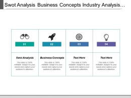 Swot Analysis Business Concepts Industry Analysis Strategic Marketing Direction