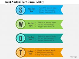 Swot Analysis For General Ability Flat Powerpoint Design