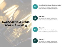 Swot Analysis Global Market Investing Ppt Powerpoint Presentation Portfolio Gridlines Cpb