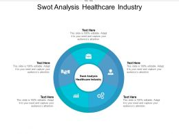 Swot Analysis Healthcare Industry Ppt Powerpoint Presentation Gallery Influencers Cpb