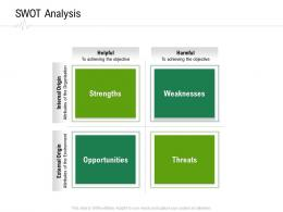 SWOT Analysis Hospital Administration Ppt Infographics Template