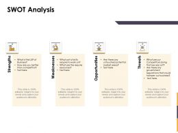 SWOT Analysis L1397 Ppt Powerpoint Presentation Model Examples