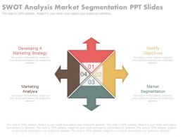Swot Analysis Market Segmentation Ppt Slides