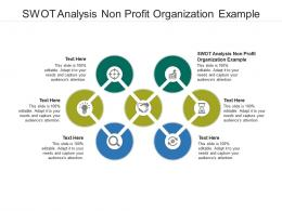 Swot Analysis Non Profit Organization Example Ppt Powerpoint Presentation Layouts Guide Cpb
