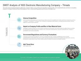 Swot Analysis NSS Electronic Manufacturing Threats Strategies Improve Skilled Labor Shortage Company
