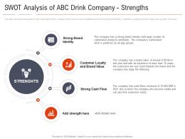 Swot Analysis Of ABC Drink Company Strengths Carbonated Drink Company Shifting Healthy Drink