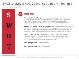 SWOT Analysis Of ADC Cosmetics Company Strengths Latest Trends Can Provide Competitive Advantage Company