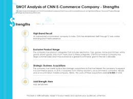 Swot Analysis Of CNN E Commerce Company Strengths Case Competition Ppt Inspiration