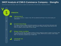 Swot Analysis Of CNN E Commerce Company Strengths Ppt Ideas