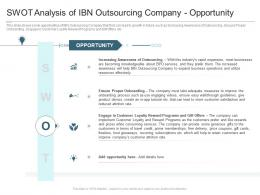 SWOT Analysis Of IBN Outsourcing Company Opportunity Reasons High Customer Attrition Rate