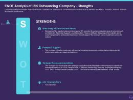 Swot Analysis Of IBN Outsourcing Company Strengths Customer Attrition In A BPO Styles Show