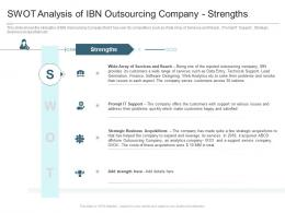 SWOT Analysis Of IBN Outsourcing Company Strengths Reasons High Customer Attrition Rate