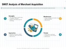 SWOT Analysis Of Merchant Acquisition Industry Ppt Powerpoint Outline Background Image