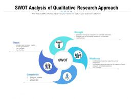 SWOT Analysis Of Qualitative Research Approach