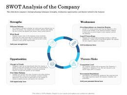 SWOT Analysis Of The Company Ppt Summary File Formats