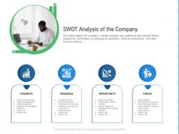 Swot Analysis Of The Company Raise Funding From Post IPO Ppt Icons