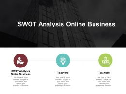 SWOT Analysis Online Business Ppt Powerpoint Presentation Model Microsoft Cpb