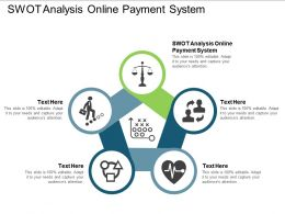 SWOT Analysis Online Payment System Ppt Powerpoint Presentation Styles Slide Cpb